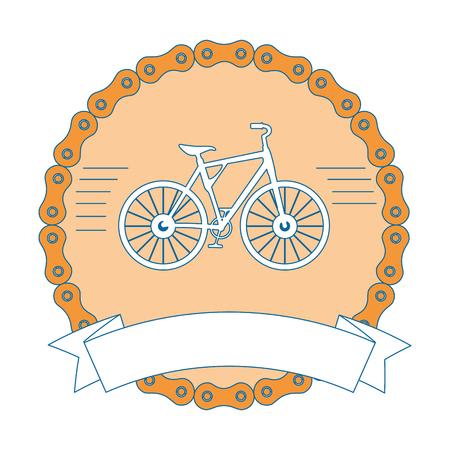 자전거 차량 벡터 일러스트 디자인으로 우아한 프레임 체인 일러스트