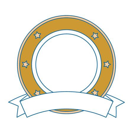 elegant seal with ribbon vector illustration design Ilustração