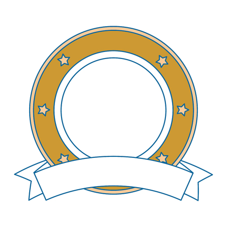 elegant seal with ribbon vector illustration design Illustration