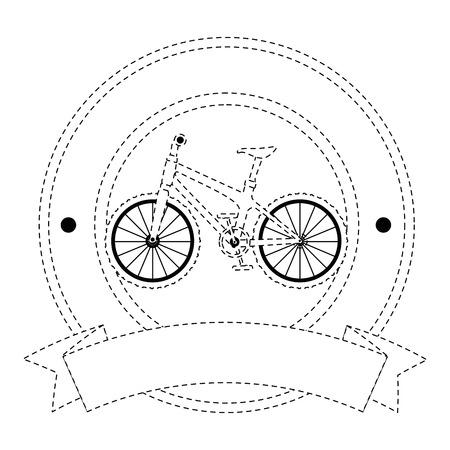 elegant frame with bicycle vehicle vector illustration design