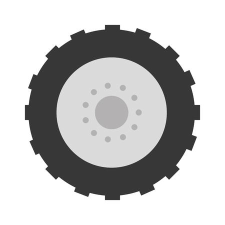 Traktor Reifen isoliert Symbol Vektor-Illustration Design Standard-Bild - 85362725