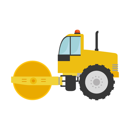 excavation: planer construction isolated icon vector illustration design Illustration