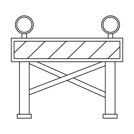 Icône de clôture de construction icône illustration vectorielle Banque d'images - 85363945