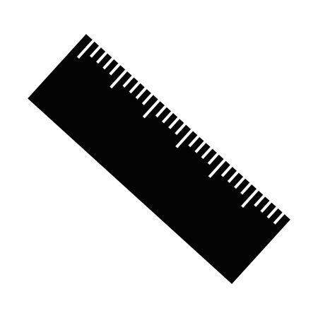 pencil school with rule vector illustration design Ilustração