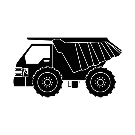 덤프 트럭 격리 된 아이콘 벡터 일러스트 레이 션 디자인 스톡 콘텐츠 - 85364945
