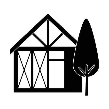 木造住宅構造ツリー ベクトル イラスト デザイン