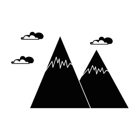 눈 덮인 산들 고립 된 아이콘 벡터 일러스트 디자인 스톡 콘텐츠 - 85364988