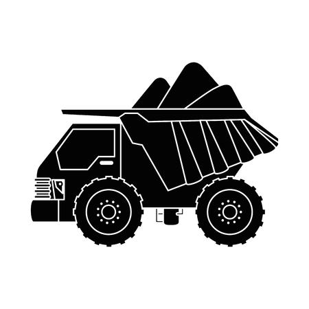 덤프 트럭 격리 된 아이콘 벡터 일러스트 레이 션 디자인