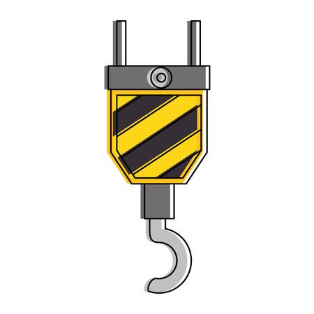 crane construction isolated icon vector illustration design
