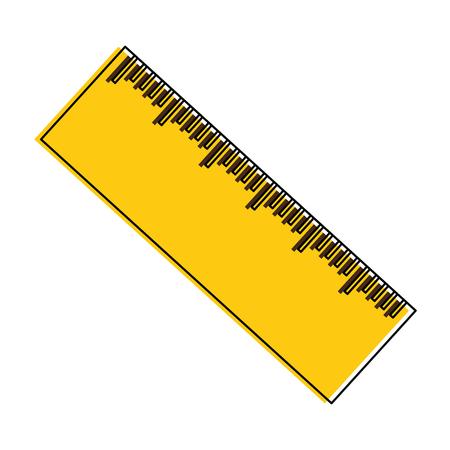 pencil school with rule vector illustration design Illusztráció