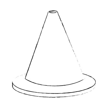 construction cone isolated icon vector illustration design Ilustração