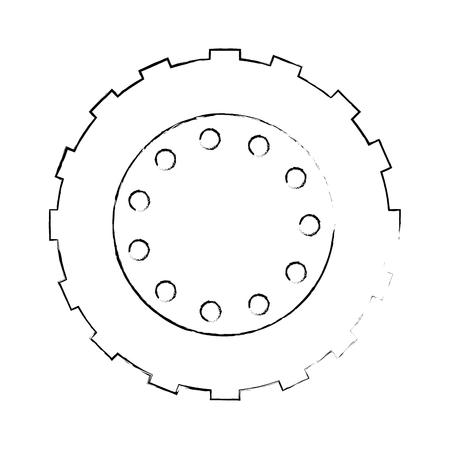 Traktor Reifen isoliert Symbol Vektor-Illustration Design Standard-Bild - 85365311