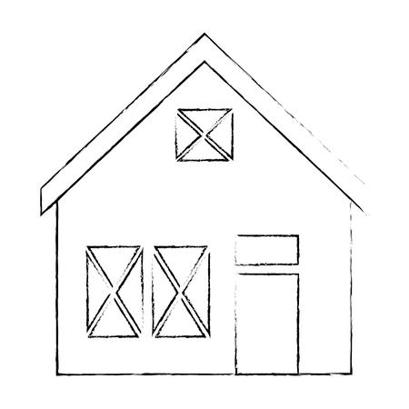 Holzhaus Struktur Symbol Vektor-Illustration Design Standard-Bild - 85365314