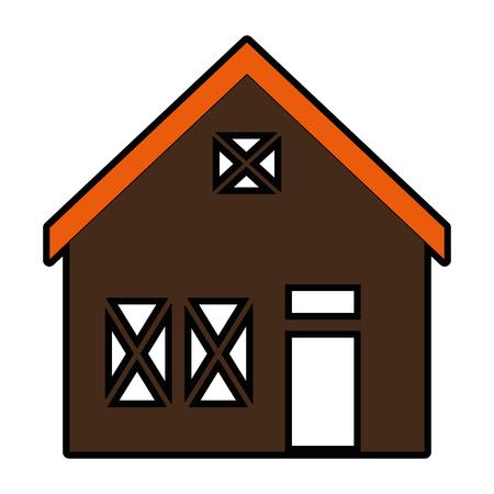 Holzhaus Struktur Symbol Vektor-Illustration Design Standard-Bild - 85365321