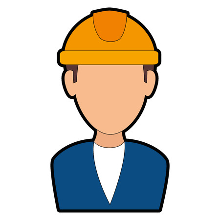 elegant engineer avatar character vector illustration design