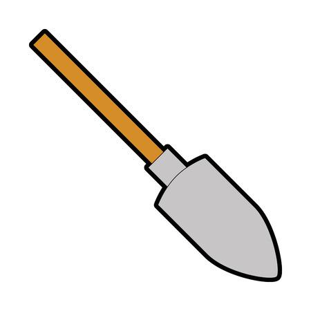 shovel construction isolated icon vector illustration design Ilustração