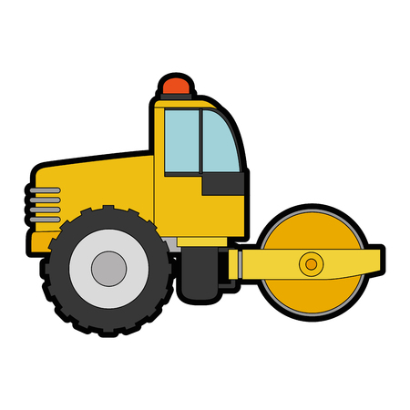 movers: planer construction isolated icon vector illustration design Illustration