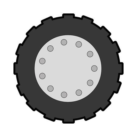 tractor band geïsoleerd pictogram vector illustratie ontwerp