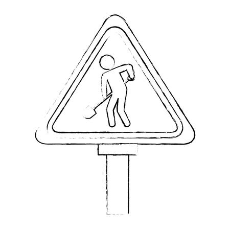 traffic signal Road under construction vector illustration design Ilustrace