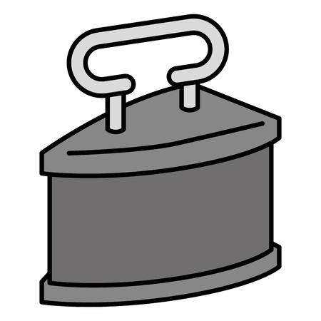 antique iron clothes icon vector illustration design