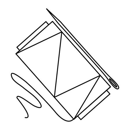Nähgarn Rohre mit Nadel Vektor-Illustration Design Standard-Bild - 85366307