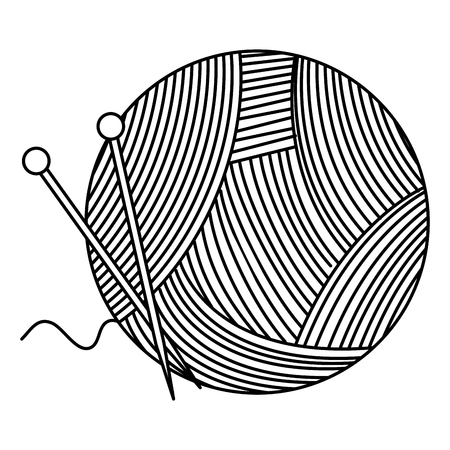 woolen roll with pins vector illustration design Illustration