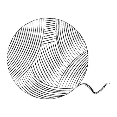 分離されたウールのロール アイコン ベクトル イラスト デザイン