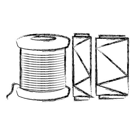 ミシン糸チューブアイコンベクトルイラストデザイン