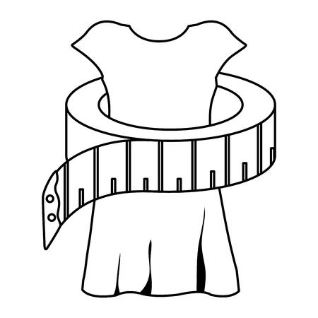 マネキン ベクトル イラスト デザインと縫製テープ メジャー