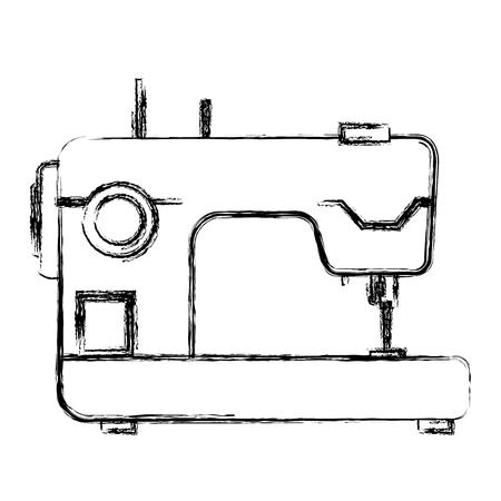 바느질 기계 격리 된 아이콘 벡터 일러스트 디자인