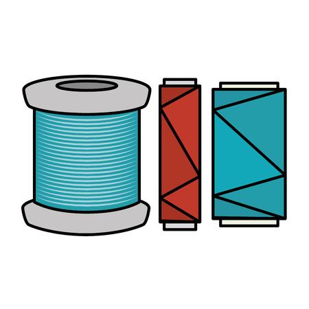 縫製糸管のアイコン ベクトル イラスト デザイン 写真素材