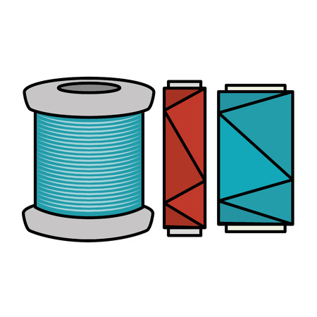 sewing thread tubes icon vector illustration design Stock fotó - 85366345