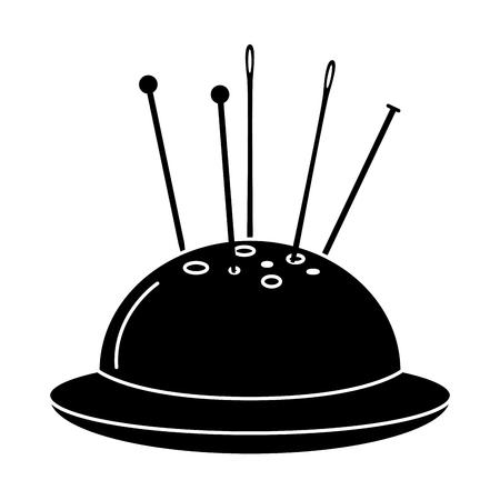 naaien speldenkussen geïsoleerde pictogram vector illustratie ontwerp Stock Illustratie
