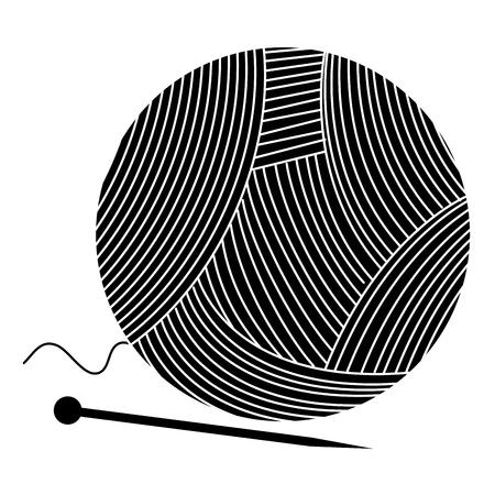 Wollen rol met pinnen vector illustratie ontwerp Stock Illustratie