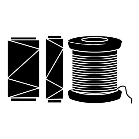 Nähgarnrohrikonenvektor-Illustrationsdesign Standard-Bild - 85366347