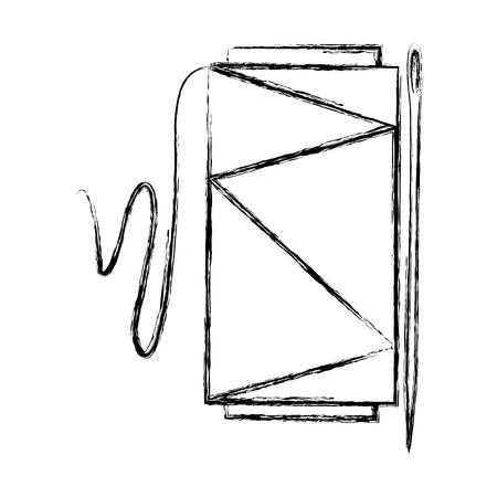 바늘 벡터 일러스트 디자인으로 바느질 스레드 튜브 일러스트