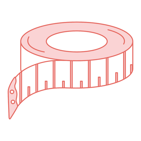 millimeters: sewing tape measure icon vector illustration design