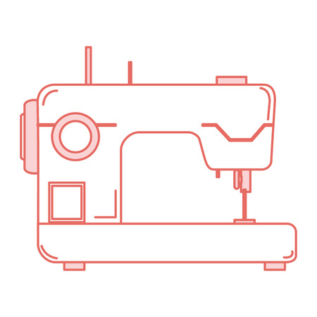sewing machine isolated icon vector illustration design