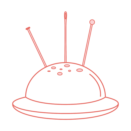 sewing pincushion isolated icon vector illustration design