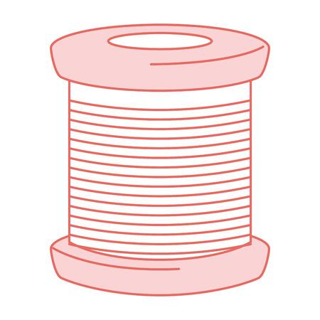 Tubi di filetti per cucire illustrazione vettoriale illustrazione icona Archivio Fotografico - 85363003