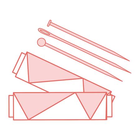 針管の縫製糸やピン ベクター イラスト デザイン  イラスト・ベクター素材
