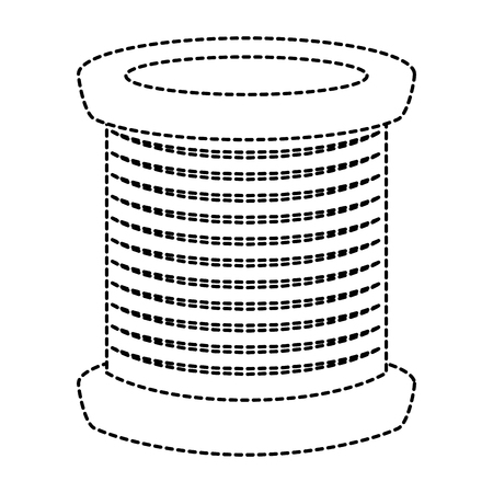 sewing thread tubes icon vector illustration design