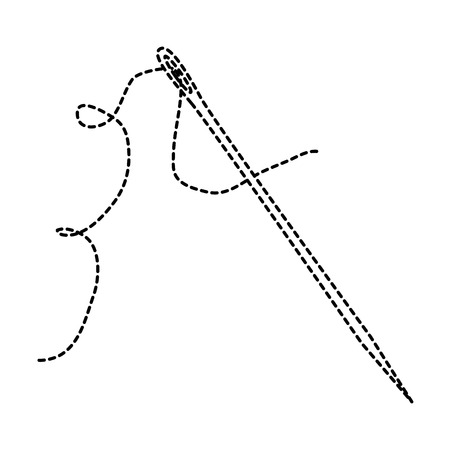naaien naald met draad vector illustratie ontwerp Stock Illustratie