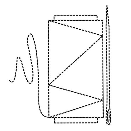 ミシン針ベクトル イラスト デザインとスレッド チューブ