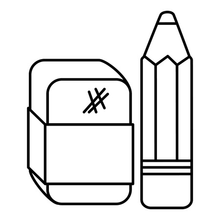 연필 학교 지우개 벡터 일러스트 디자인 일러스트