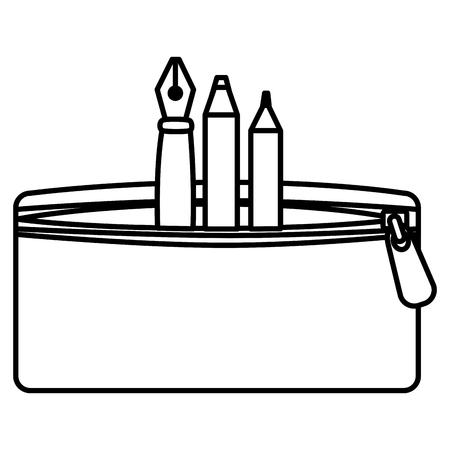 ペン、色のベクター イラスト デザインのペンシル ケース