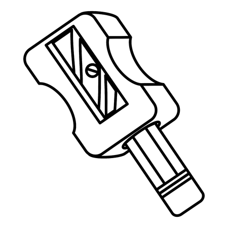 sharpenner school with pencil vector illustration design