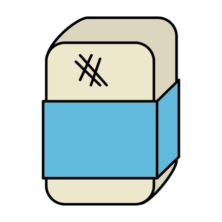 eraser school isolated icon vector illustration design Ilustração