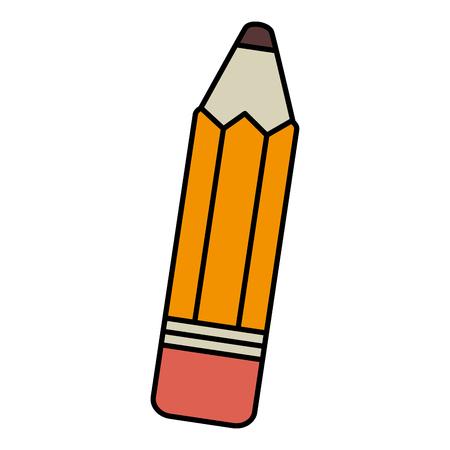 연필 학교 격리 된 아이콘 벡터 일러스트 디자인