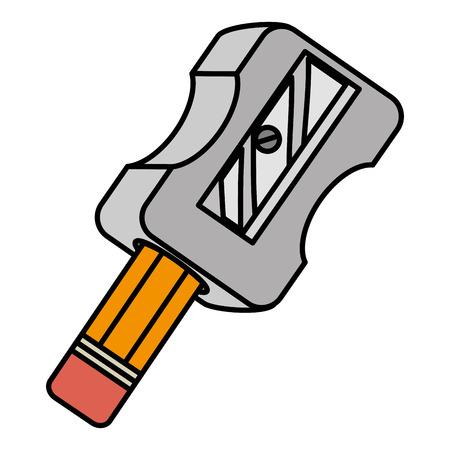 Sharpenner Schule mit Bleistift Vektor-Illustration Design Standard-Bild - 85367244